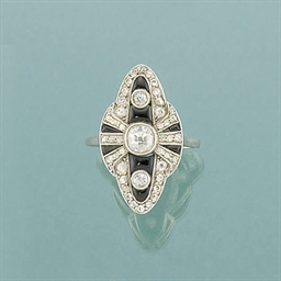 A French Art Deco diamond and