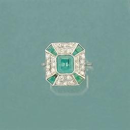 An Art Deco emerald and diamon