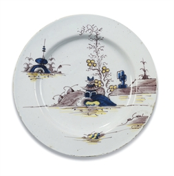 AN ENGLISH DELFT CHARGER