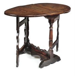 A CHARLES II OAK GATELEG TABLE