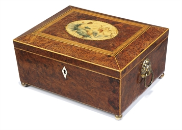 A REGENCY BURR-YEW AND INLAID