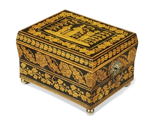A REGENCY PENWORK WORK-BOX