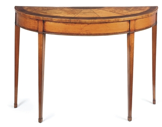AN IRISH GEORGE III SATINWOOD
