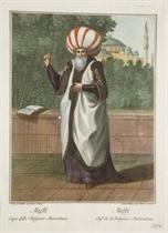 Mufty, Chef de la Religion Mahomètane; Emir, Homme de Loy de la Race de Mahomet; Chiaoùs Baschy, Chambellan de Cour