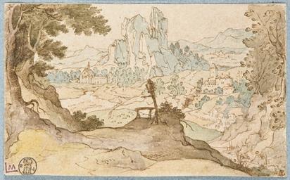 Village dans un paysage escarp