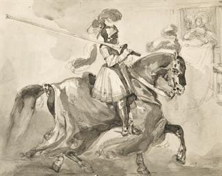 Cavalier en armures à cheval t