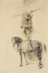 Un gentilhomme à cheval baisan