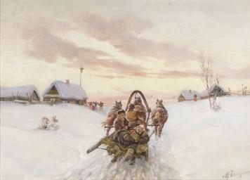 Troïka dans la neige