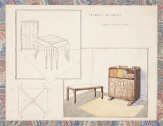 Projet de meubles de salon com