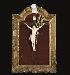 CHRIST EN IVOIRE DU XVIIIEME S