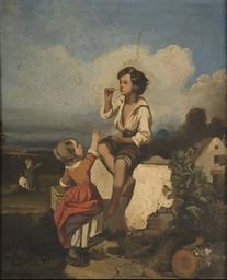 Enfant jouant aux bulles