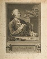 Jean Le Rond d'Alembert et Diderot par Benoît-Louis Henriquez (Le Blanc 17 et 18)