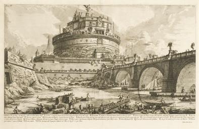 Veduta del Ponte, e del Mausol