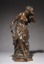 FIGURE EN BRONZE DE L'ECHO