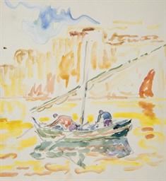 Pêcheurs dans le port de Saint