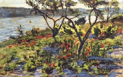 Contre-jour sur l'étang de Ber