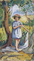 Petite fille dans la clairière