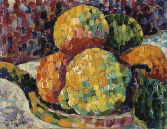 Nature morte. Coing et oranges