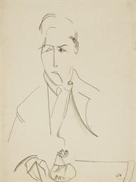 Portrait de Modigliani à la pi