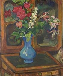 Bouquet de fleurs sur une peti