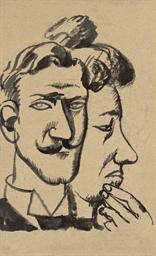 Portrait d'homme et profil de