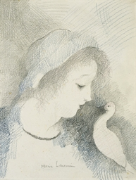 Jeune fille à la colombe