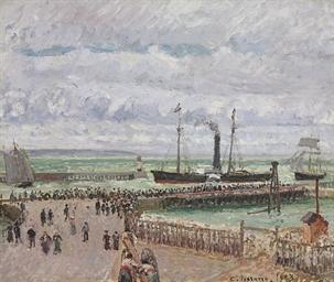 Éntrée du port du Havre et le
