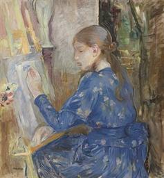 Jeune fille écrivant