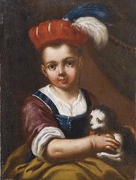 Bambina con un gatto