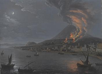 Eruzione del Vesuvio vista da