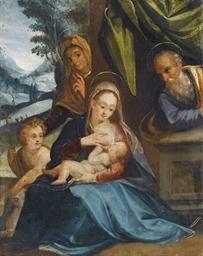 Sacra Famiglia in un paesaggio