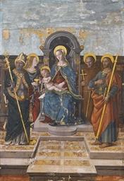Madonna col Bambino in trono f