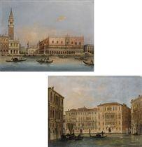 Palazzo Ducale dal bacino di San Marco; e Il Canal Grande, con i palazzi Contarini, Rezzonico e Balbi