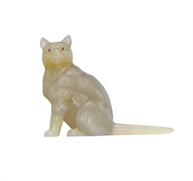 AN AGATE CAT FIGURE, BY FABERG