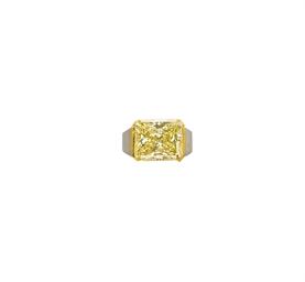 A COLOURED DIAMOND AND GOLD RI