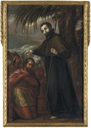 San Francisco Javier bautizand