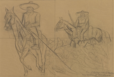 Untitled (Study with Horsemen)