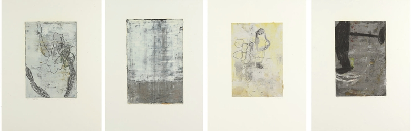 Group of four works: three Unt