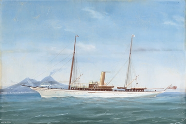 The famous U.S. steam yacht No