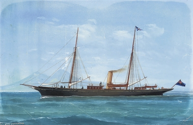 The steam yacht Lady Cassandra
