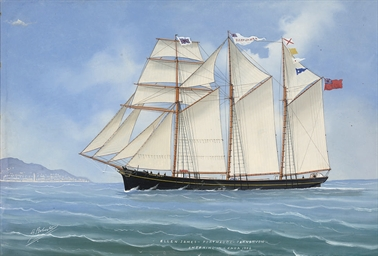 The three-masted topsail schoo