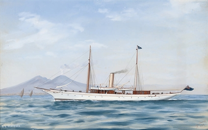 The steam yacht Schievan in th