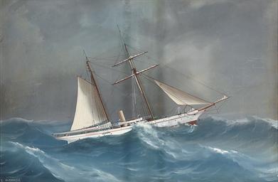 The steam yacht Miranda in cho