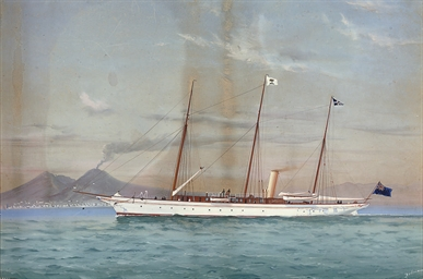 The steam yacht Esperanza in t