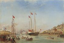 The new Royal Yacht Victoria & Albert (II) arriving at Boulogne for Queen Victoria's second State Visit, 18th August 1855