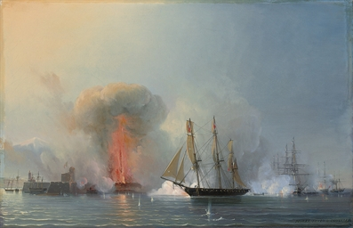 The French fleet bombarding Ve