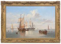 Shipping in a flat calm off the Dutch coast