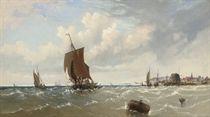 Coastal craft off a Brittany port