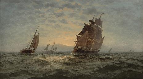 Dawn on the high seas