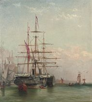 An old paddle steamer moored off Shields